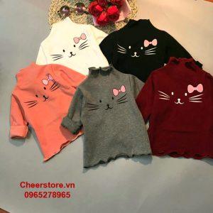 Áo len cotton Mèo -0
