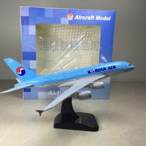 Mô hình máy bay Hàn Quốc airlines A380 20cm-0