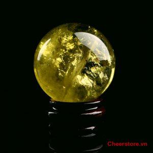 Quả cầu thạch anh vàng QV01-0