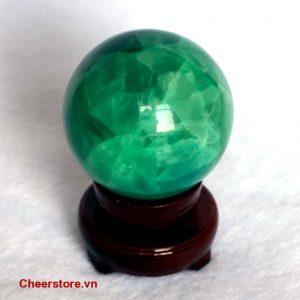 Quả cầu đá thạch anh xanh QCX02-0